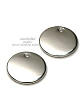 "NEW! 10 Silver Plated Laser Cut Round Alloy Metal Stamping Blanks, Tags or Charms 16mm (0.6"") ~ For Unique Jewellery Making"