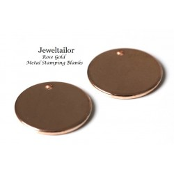 "NEW! 5 Rose Gold Laser Cut Round Metal Stamping Blanks, Tags or Charms 15mm (5/8"") ~ For Unique Jewellery Making"