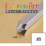 New! 1 Impressart .925 Design Stamp 1.5mm ~ Ideal For For Authenticating Sterling Silver Designs & Projects
