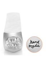 "New! 1 Impressart ""Handmade"" Wording Design Stamp 6mm ~ Ideal For For Metal, Wood, Leather & More"