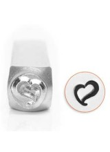 New! 1 Impressart Swirly Heart Design Stamp 6mm ~ Ideal For For Metal, Wood, Leather & More