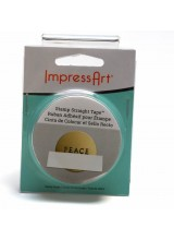 New! Impressart Stamp Straight Tape To Guide Metal Stamping ~ Easy Peel For Less Residue