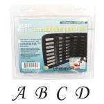 New! Beadsmith 27 Piece Uppercase Calligraphy Alphabet Letters Punch/Stamp Set For Metal 3mm + FREE UK Delivery