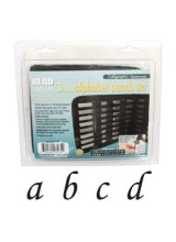 New! Beadsmith 27 Piece Lowercase Calligraphy Alphabet Letters Punch/Stamp Set For Metal 3mm + FREE UK Delivery
