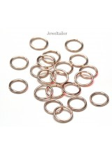 NEW! 100 Shiny Rose Gold Plated 8mm Jump Rings 1mm Thick  ~ Jewellery Making Essentials