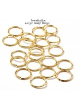 20-60 Shiny Gold Plated 20mm Extra Large Jump Rings ~ Limited Editions Collection