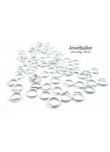 20-100 Quality Sterling Silver .925 Open Jump Rings 4.5mm ~ Fine Jewellery Making