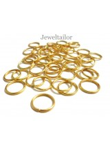 100-200 Shiny Gold Plated 12mm Jump Rings 1mm Thick ~ Jewellery Making Essentials
