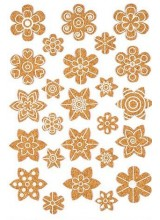 NEW! 25 Cork Self Adhesive Decorative Flower Stickers 18-35mm  ~ Ideal For Bespoke Gift Packaging, Scrapbooking, Card Making & More
