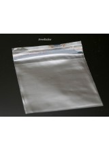 NEW! 100-500 Square Self Seal Clear Cellophane Bags 10 x 7cm ~ Ideal For Storing Beads, Findings & Other Craft Materials