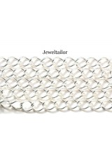 1-5 Metres Lead Free Silver Plated Chain Perfect For Bracelets & Necklaces 10mm x 8mm Links ~ Jewellery Making Essentials