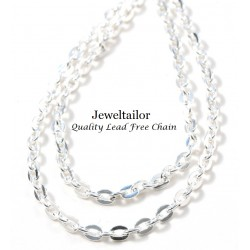 1-10 Metres Lead Free Silver Plated Diamond Cut Chain Perfect For Necklaces 3mm x 2mm Links~ Jewellery Making Essentials