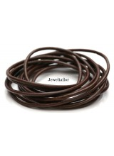 2-10 Metres of Quality Chocolate Brown Leather Cord Stringing Material 2mm ~ Jewellery Making Essentials