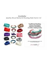 NEW! Quality Mixed Rattail Silky Cord Starter Pack Plus Comprehensive Braiding, Knotting & Kumihimo Guide Book~ Includes FREE Bonus End Beads & 10 Vibrant Colours