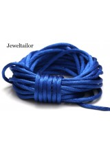 4-20 Metres Cobalt Blue Rattail Silky Satin Cord 2mm ~ Ideal For Kumihimo, Macrame, Braiding & Shamballa Designs ~ Craft Essentials