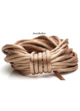 4-20 Metres Caramel Gold Rattail Silky Satin Cord 2mm ~ Ideal For Kumihimo, Macrame, Braiding & Shamballa Designs ~ Craft Essentials
