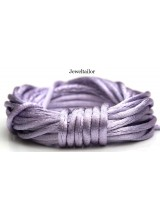 4-20 Metres Lavender Lilac Rattail Silky Satin Cord 2mm ~ Ideal For Kumihimo, Macrame, Braiding & Shamballa Designs ~ Craft Essentials