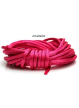 4-20 Metres Cerise Pink Rattail Silky Satin Cord 2mm ~ Ideal For Kumihimo, Macrame, Braiding & Shamballa Designs ~ Craft Essentials