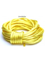 4-20 Metres Primrose Yellow Rattail Silky Satin Cord 2mm ~ Ideal For Kumihimo, Macrame, Braiding & Shamballa Designs ~ Craft Essentials