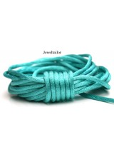 4-20 Metres Mint Green Rattail Silky Satin Cord 2mm ~ Ideal For Kumihimo, Macrame, Braiding & Shamballa Designs ~ Craft Essentials
