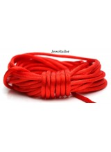 4-20 Metres Flamenco Red Rattail Silky Satin Cord 2mm ~ Ideal For Kumihimo, Macrame, Braiding & Shamballa Designs ~ Craft Essentials