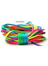 NEW! 5-20 Metres Rainbow Coloured Rattail Silky Satin Cord 2mm ~ Ideal For Kumihimo, Macrame, Braiding & Shamballa Designs ~ Craft Essentials