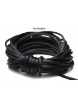 4-20 Metres Catwalk Black Rattail Silky Satin Cord 2mm ~ Ideal For Kumihimo, Macrame, Braiding & Shamballa Designs ~ Craft Essentials