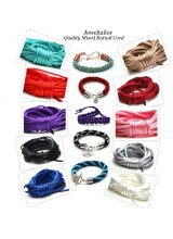 NEWLY UPDATED! Quality Mixed Rattail Silky Cord Starter Pack + FREE Bonus End Beads ~ Contains 10 Vibrant Colours Ideal For Kumihimo, Macrame, Braiding & Shamballa Designs