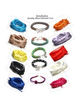 NEWLY UPDATED! Quality Mixed Rattail Silky Cord Starter Pack + FREE Large Bonus End Beads ~ Contains 10 Exotic Colours Ideal For Kumihimo, Macrame, Braiding & Shamballa Designs