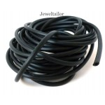 1-10 Metres Quality Black Hollow Rubber Tube 3mm ~ Perfect For A Range of Jewellery And Craft Projects