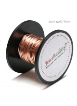 NEW! 5-30 Metres Rose Gold 0.8mm (20 Gauge) Aluminium Stay Bright Craft Wire ~ Jewellery Making Essentials