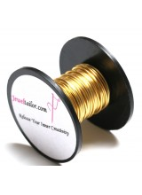 5-30 Metres Champagne Gold Plated 0.8mm (20 Gauge) Aluminium Stay Bright Craft Wire ~ Jewellery Making Essentials