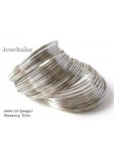 20 Loops Strong Stainless Steel 1mm (18 Gauge) Bracelet Memory Wire ~ Jewellery Making Essentials