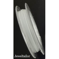 10-30 Metres White Smoke Nylon Coated Steel Beading Wire/Tiger Tail 0.38mm ~ Jewellery Making Essentials