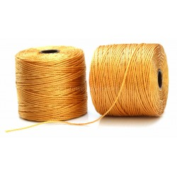 NEW! Beadsmith 77 Yards Marigold S-Lon Superlon Tex 210 Bead Cord ~ Ideal For Kumihimo, Macrame, Braiding & Beading Designs ~ Craft Essentials