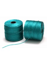 NEW! Beadsmith 77 Yards Teal S-Lon Superlon Tex 210 Bead Cord ~ Ideal For Kumihimo, Macrame, Braiding & Beading Designs ~ Craft Essentials