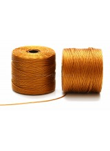 Beadsmith 77 Yards Gold S-Lon Superlon Tex 210 Bead Cord ~ Ideal For Kumihimo, Macrame, Braiding & Beading Designs ~ Craft Essentials