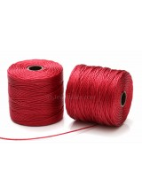 Beadsmith 77 Yards Dark Red S-Lon Superlon Tex 210 Bead Cord ~ Ideal For Kumihimo, Macrame, Braiding & Beading Designs ~ Craft Essentials