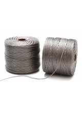 Beadsmith 77 Yards Gunmetal Grey S-Lon Superlon Tex 210 Bead Cord ~ Ideal For Kumihimo, Macrame, Braiding & Beading Designs ~ Craft Essentials