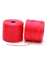 Beadsmith 77 Yards Coral S-Lon Superlon Tex 210 Bead Cord ~ Ideal For Kumihimo, Macrame, Braiding & Beading Designs ~ Craft Essentials