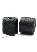 Beadsmith 77 Yards Black S-Lon Superlon Tex 210 Bead Cord ~ Ideal For Kumihimo, Macrame, Braiding & Beading Designs ~ Craft Essentials