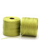 Beadsmith 77 Yards Chartreuse Green S-Lon Superlon Tex 210 Bead Cord ~ Ideal For Kumihimo, Macrame, Braiding & Beading Designs ~ Craft Essentials