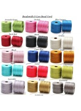 Beadsmith 4 Reels Of Mixed S-Lon Superlon Tex 210 Bead Cord ~77 Yards x 4 ~ Ideal For Kumihimo, Macrame, Braiding & Beading Designs
