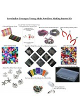Teenager /Young Adult Jewellery Making Starter Kit~Make Your Own Jewellery In Minutes! With Carry Handle Box & Bonus Cord & Clasps ~ A Perfect Gift Or Treat + Free UK Delivery