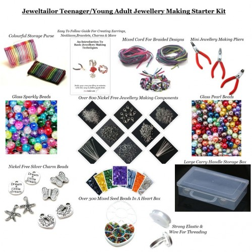 43806548e4966 Teenager /Young Adult Jewellery Making Starter Kit~Make Your Own ...