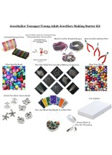 NEWLY UPDATED! Teenager /Young Adult Jewellery Making Starter Kit~Make Your Own Jewellery In Minutes! With Free Gift Box, Bonus Cord, Clasps + NEW! Bead Board Option~ A Perfect Gift Or Treat