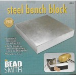 New! Beadsmith Large 4 Inch Metal Stamping Steel Bench Block ~ For Professional Hand Stamping