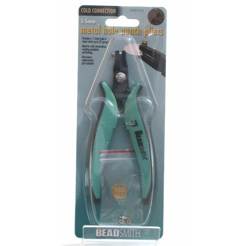 beadsmith metal hole punch pliers 15mm bonus replacement pin ideal for creating smooth